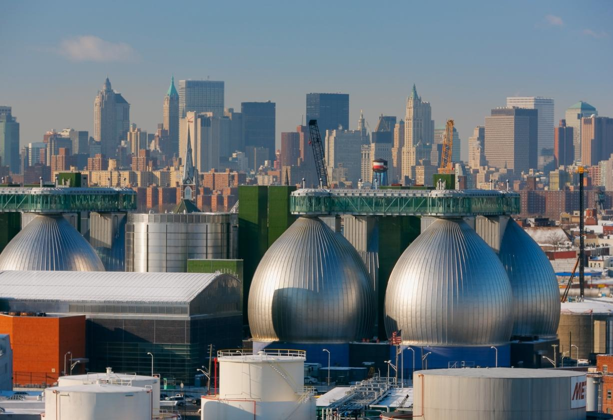 newtown creek wastewater treatment facility