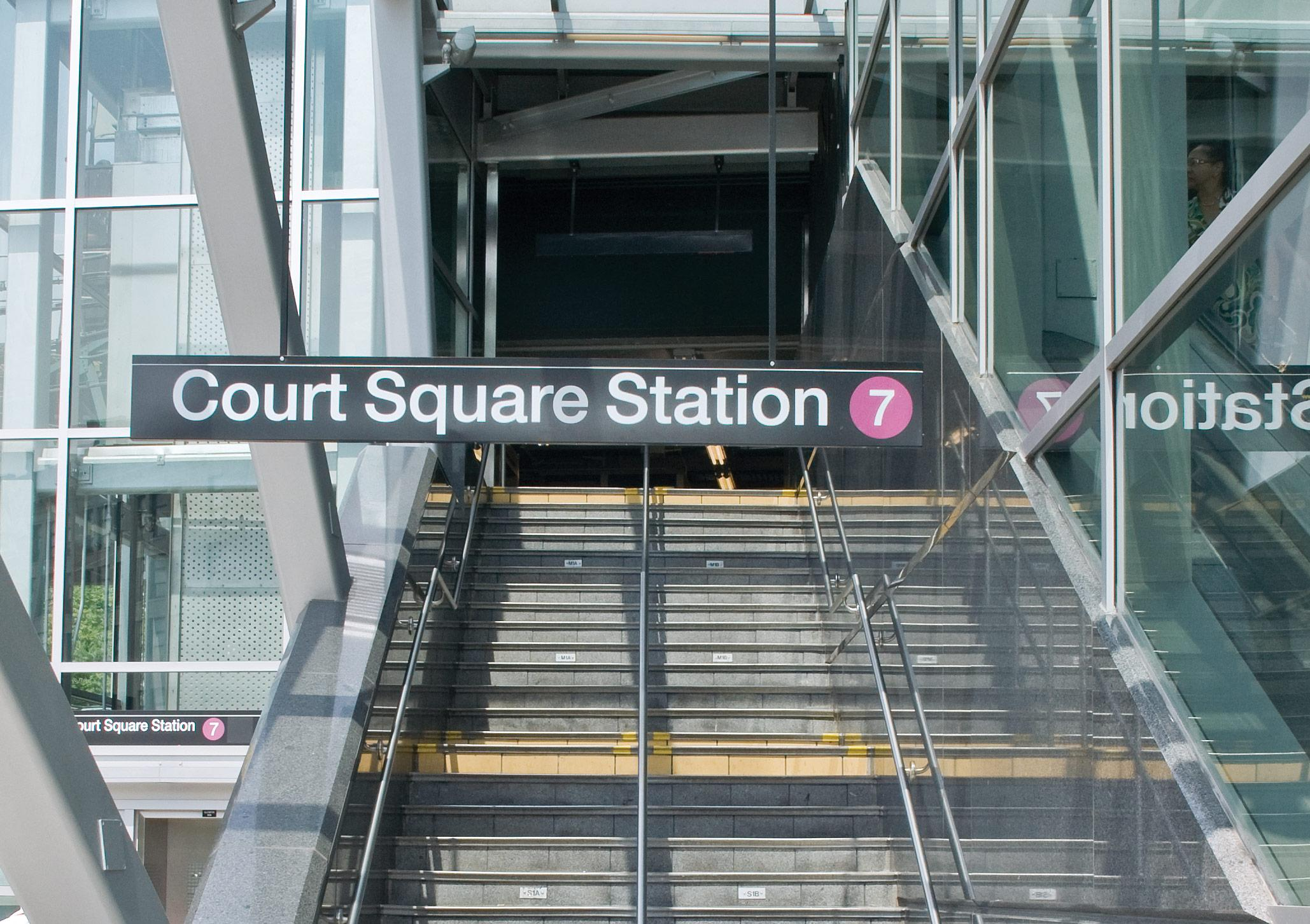 court square subway station