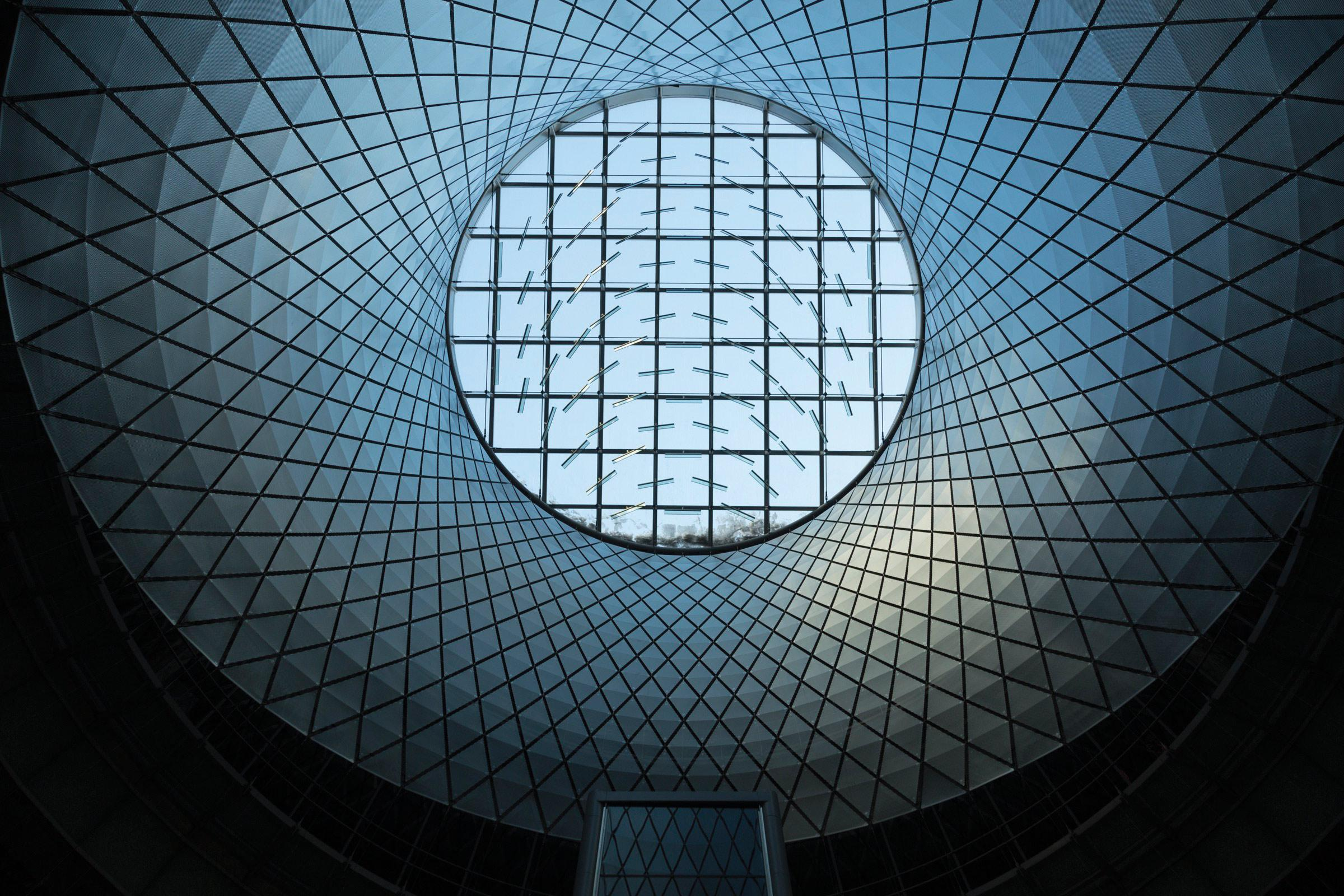 Fulton Center Sky Reflector Net Steel Institute Of New York