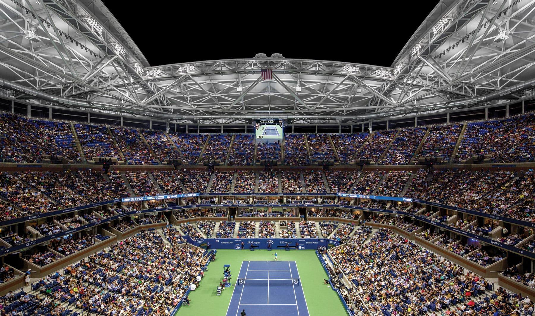 usta arthur ashe stadium roof